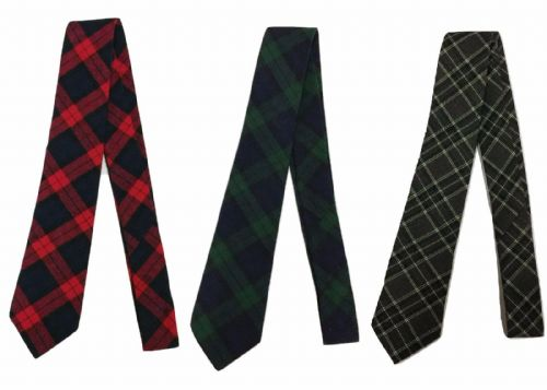 Cotton Tartan Check Tie Wedding Event Scotland